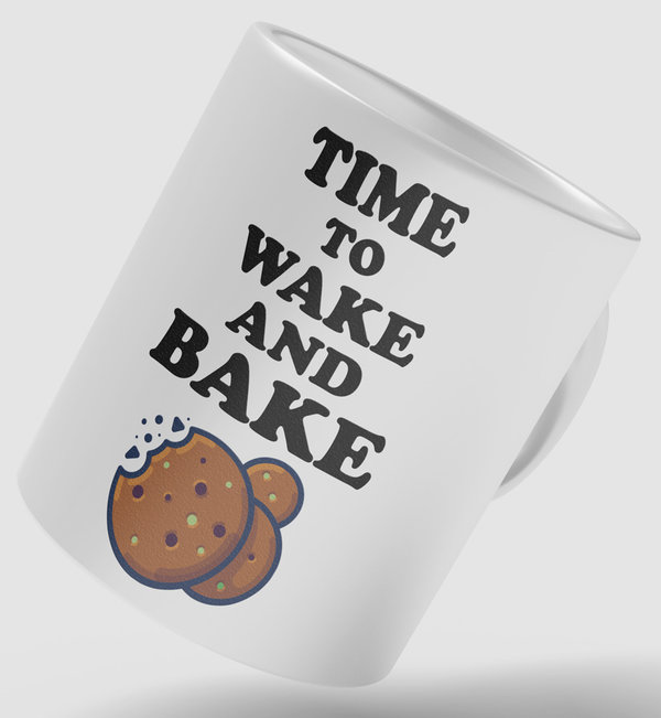 TIME TO WAKE AND BAKE Tasse